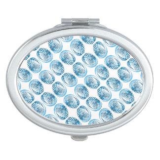 Blue Shells Pattern. Vanity Mirror