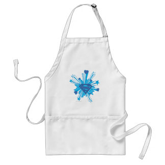 Blue Shield with hearts Standard Apron