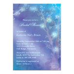 Blue Shimmer Cute Winter Bridal Shower 13 Cm X 18 Cm Invitation Card