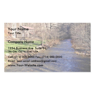 Blue shiner habitat with stream pack of standard business cards