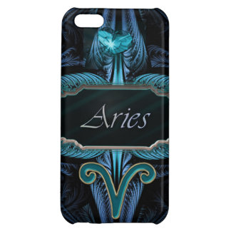 Blue Shining Heart Aries Zodiac Astrological Sign iPhone 5C Covers