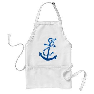 Blue Ship s Anchor Nautical Marine Themed Apron