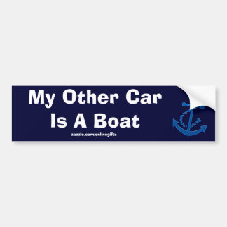 Blue Ship s Anchor Nautical Marine Themed Bumper Sticker