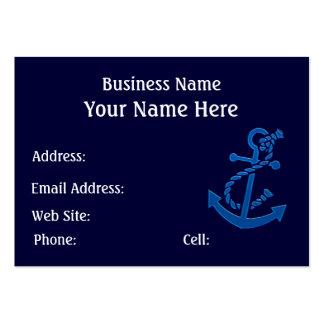 Blue Ship s Anchor Nautical Marine Themed Business Card
