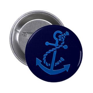 Blue Ship s Anchor Nautical Marine Themed Buttons