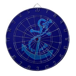 Blue Ship s Anchor Nautical Marine Themed Dart Board