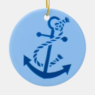Blue Ship s Anchor Nautical Marine Themed Christmas Ornaments