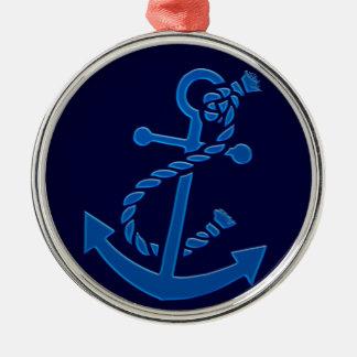 Blue Ship s Anchor Nautical Marine Themed Christmas Tree Ornaments