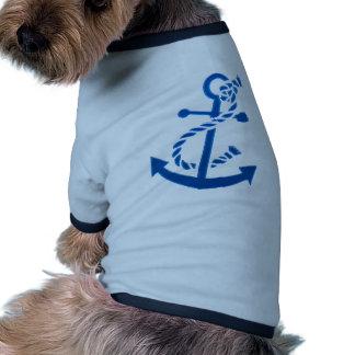 Blue Ship s Anchor Nautical Marine Themed Dog Clothing