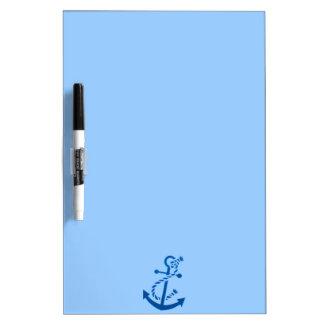 Blue Ship s Anchor Nautical Marine Themed Dry-Erase Boards