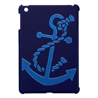 Blue Ship s Anchor Nautical Marine Themed iPad Mini Case