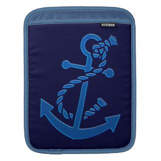 Blue Ship s Anchor Nautical Marine Themed Sleeves For iPads