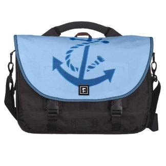 Blue Ship s Anchor Nautical Marine Themed Bag For Laptop