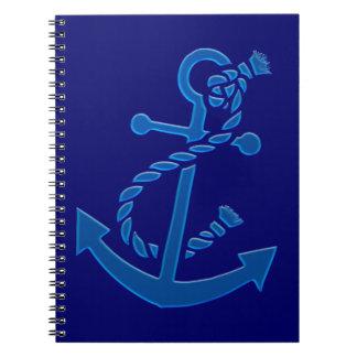 Blue Ship s Anchor Nautical Marine Themed Note Books