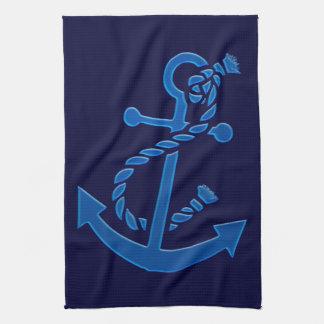 Blue Ship s Anchor Nautical Marine Themed Towels