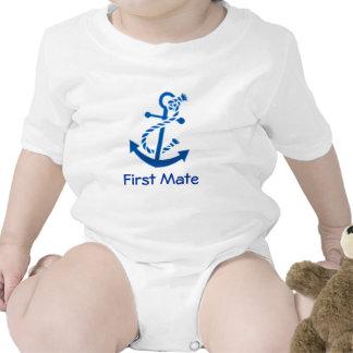 Blue Ship s Anchor Nautical Marine Themed Baby Bodysuit