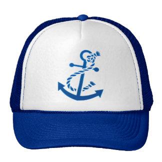 Blue Ship's Anchor Nautical Marine Themed Cap