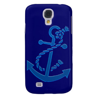 Blue Ship's Anchor Nautical Marine Themed Galaxy S4 Cover