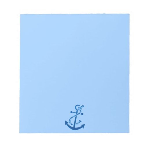 Blue Ship's Anchor Nautical Marine Themed Memo Note Pads