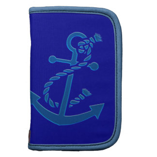 Blue Ship's Anchor Nautical Marine Themed Folio Planners