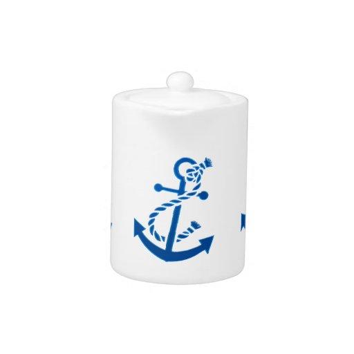 Blue Ship's Anchor Nautical Marine Themed