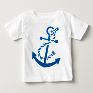 Blue Ship's Anchor Nautical Marine Themed Tshirts