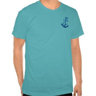 Blue Ship's Anchor Nautical Marine Themed Tee Shirts