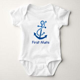 Blue Ship's Anchor Nautical Marine Themed Tee Shirt