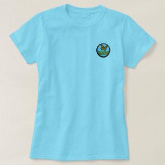 Blue Shirt, Pocket color logo T-Shirt