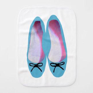 Blue Shoes Burp Cloth