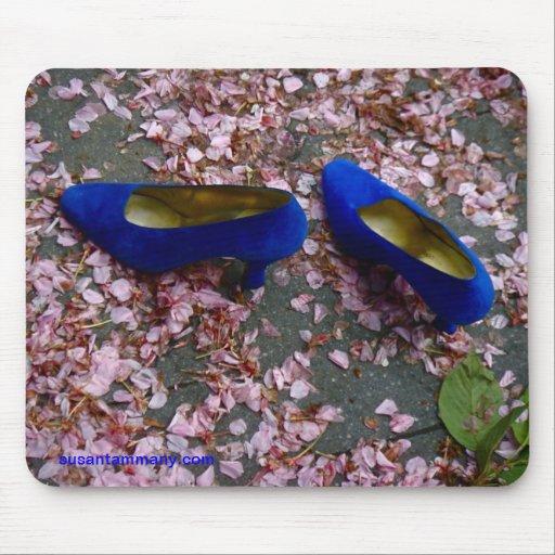 Blue Shoes mouse pad