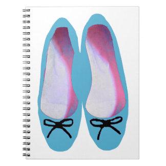 Blue Shoes Spiral Notebook