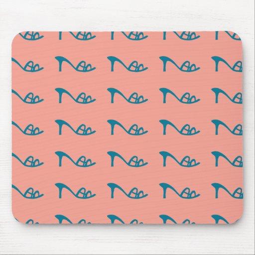Blue shoes pattern mousepads