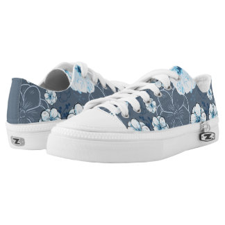 Blue Shoes Printed Shoes