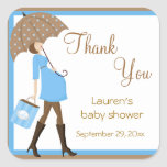 Blue Shopper Baby Shower Stickers