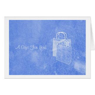 Blue Shopping Spree Money Enclosed Card