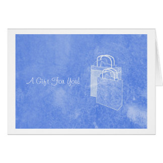 Blue Shopping Spree Money Enclosed Note Card