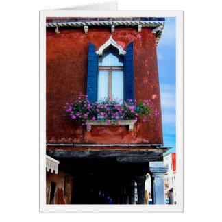 Blue Shutters Murano Card