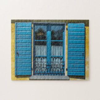 Blue shutters window photo puzzle