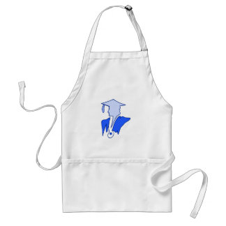 Blue Sihlouette Aprons