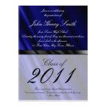 Blue Silk 2 Graduation Invitation/Announcement