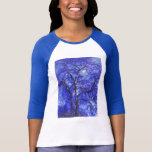 Blue silver birch tree T shirt