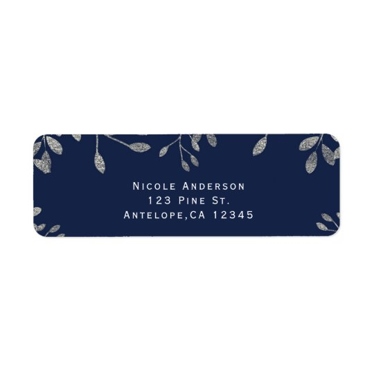 Blue & Silver Botanical Modern Wedding Invitation