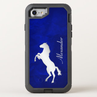 Blue Silver Horse OtterBox Defender iPhone 8/7 Case