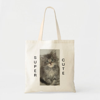 Blue Silver kitten jute bag