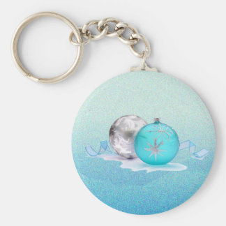 BLUE & SILVER ORNAMENTS by SHARON SHARPE Keychains