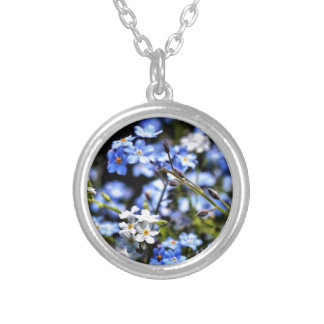 Blue Silver Plated Necklace