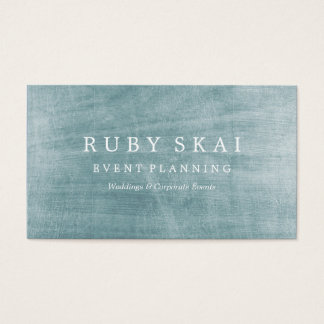 Blue Silver Textured Architectural Business Card