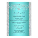 Blue silver wedding anniversary floral custom announcements
