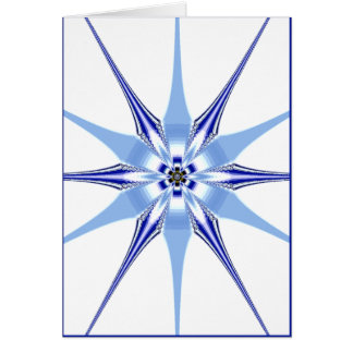 blue simplicity greeting card